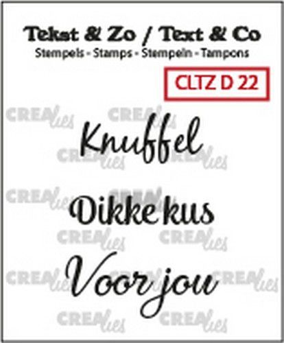 Crealies: Clearstamp Tekst&Zo - Divers 22