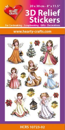 Hearty Crafts: Reliefsticker A4; Angels 2