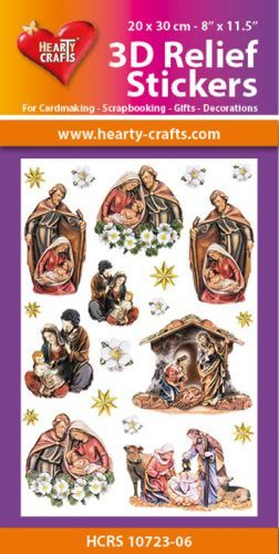 Hearty Crafts: Reliefsticker A4; Nativity Scene