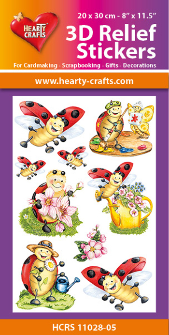 Hearty Crafts: Reliefsticker A4; Ladybug