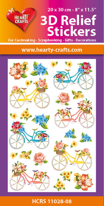 Hearty Crafts: Reliefsticker A4; Bicycles