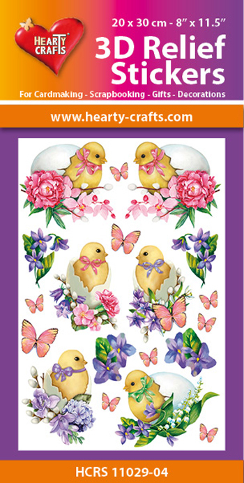 Hearty Crafts: Reliefsticker A4; Easter
