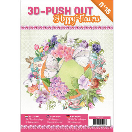 3D Push Out book 15 - Happy Flowers