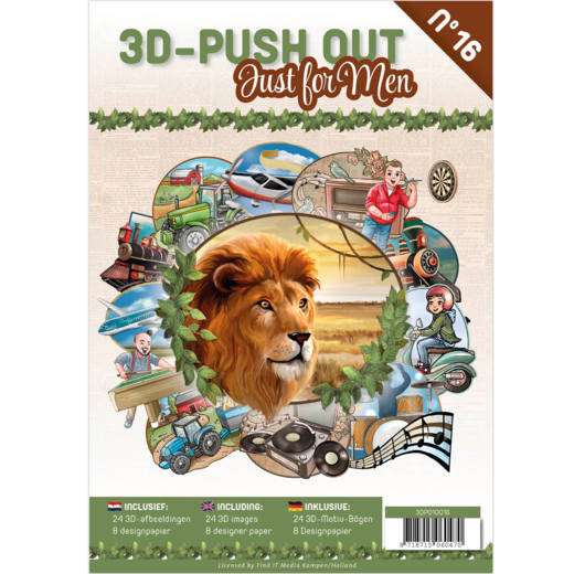 3D Push Out book 16 - Just for Men