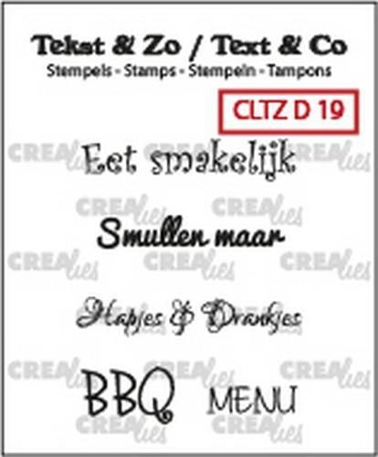 Crealies: Clearstamp; Eten