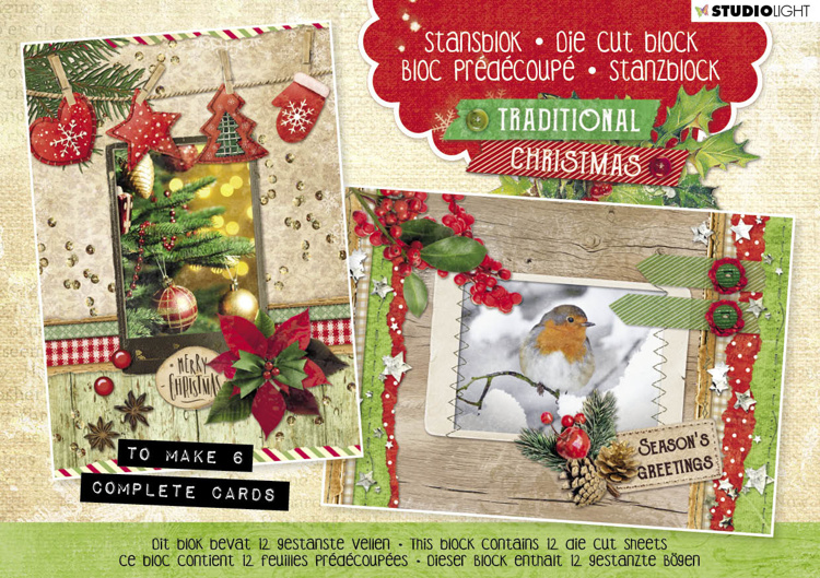 SL: Stansblok A5 - Traditional Christmas