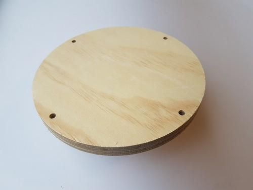 CE: Craft Wood - Macramé - Plank rond 20 cm - 18mm - holes 7 mm