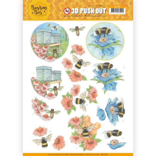 CD: Jeanines Art - Buzzing Bees; Push Out - Working Bees