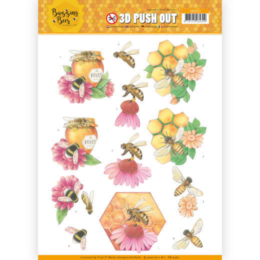 CD: Jeanines Art - Buzzing Bees; Push Out - Honey Bees