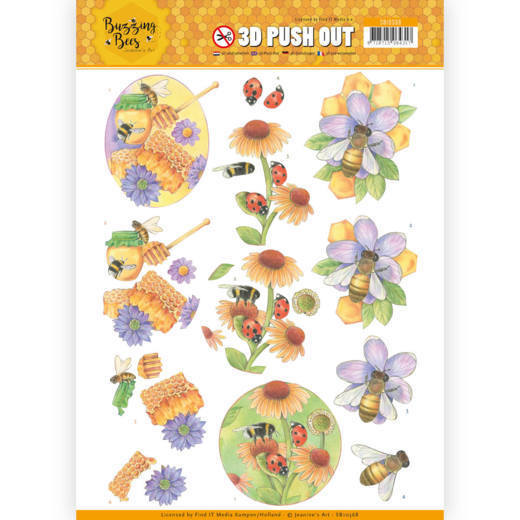 CD: Jeanines Art - Buzzing Bees; Push Out - Sweet Bees
