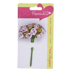 Docrafts - Papermania: Petal Elegance; Paper Posy - Lilac Rose