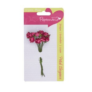 Docrafts - Papermania: Petal Elegance; Paper Posy - Deep Pink Rose