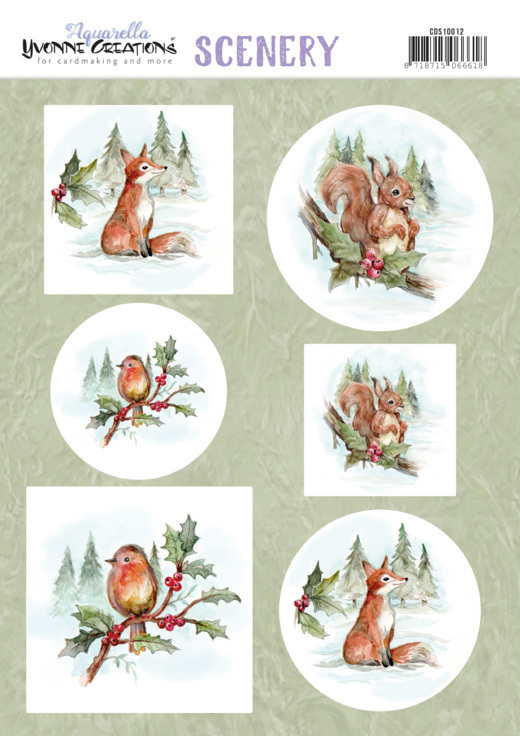 CD: Yvonne - Scenery - Aquarella Christmas Animals