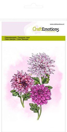 CE: Clearstamp A6 - Dahlia