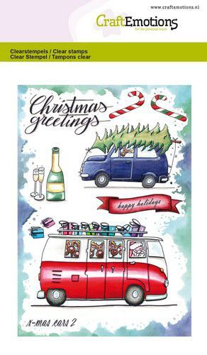 CE: Clearstamp A6 - X-mas Cars 2