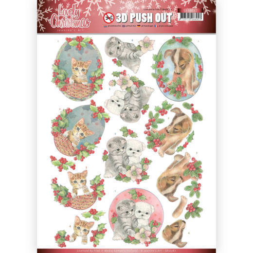 CD: Jeanine; Lovely Christmas, Die Cut - Lovely Christmas Pets