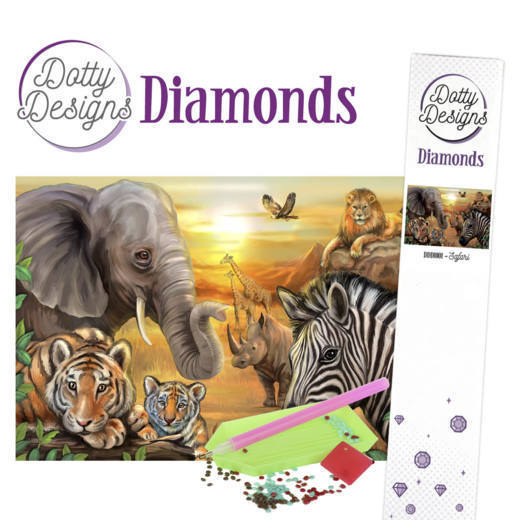 Dotty Design Diamonds: Safari