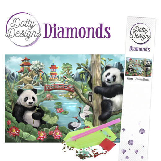 Dotty Design Diamonds: Panda Bears