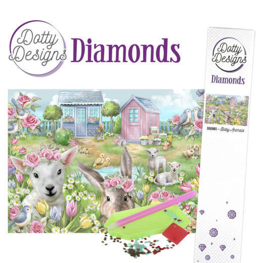 Dotty Design Diamonds: Baby Animals