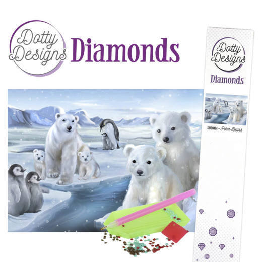 Dotty Design Diamonds: Polar Bears
