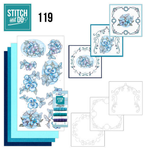 Stitch and Do 119: Blue Butterflies