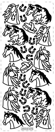 PickUp sticker: Horses, Silver