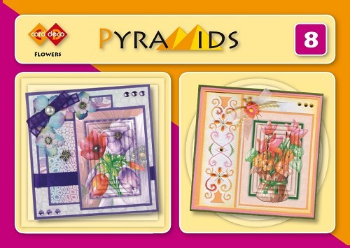 Card deco: Pyramids 8; Flowers