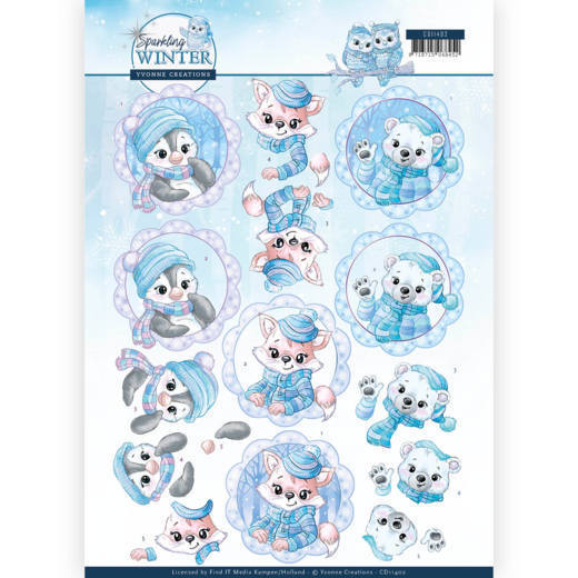 CD: Yvonne Creations; Sparkling Winter, Knipvel - Winter Friends