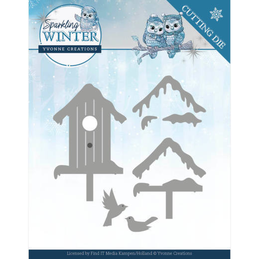CD: Yvonne Creations; Sparkling Winter, Dies - Winter Birdhouses