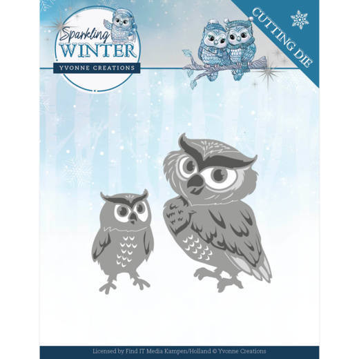 CD: Yvonne Creations; Sparkling Winter, Dies - Winter Owls