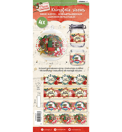 SL:4 x Sleeves 26 x 7 cm max 8 cm doorsnede; Classic Christmas