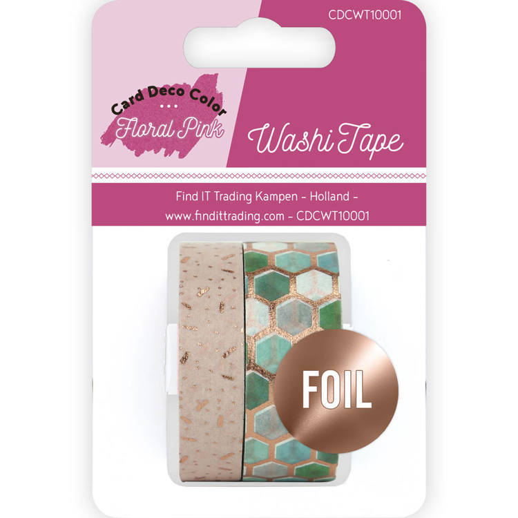 Card Deco Color: Yvonne Creations; Floral Pink, Washi Tape