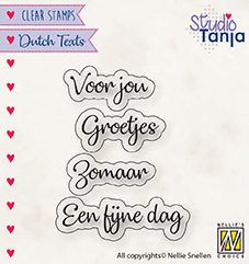 NS: Clear stamp; Dutch Text - Voor jou