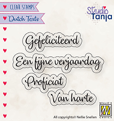 NS: Clear stamp; Dutch Text - Proficiat