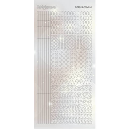 Hobbydots Sticker - PEARL - Serie 10 - SILVER