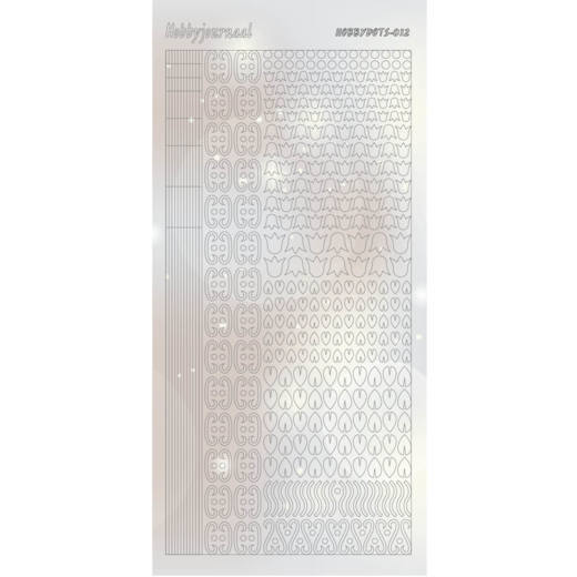 Hobbydots Sticker - PEARL - Serie 12 - SILVER