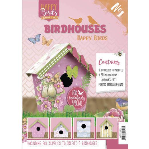 CD: Jeanine's Art; Happy Birds, Vogelhuisjesboek 1