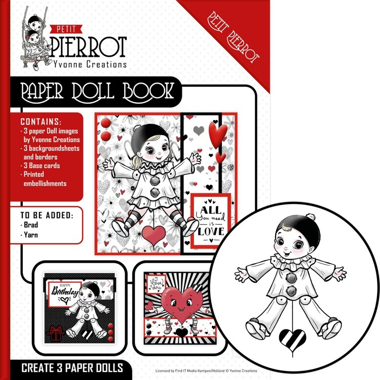 CD: Yvonne Creations; Petit Pierrot, Paper Doll Book