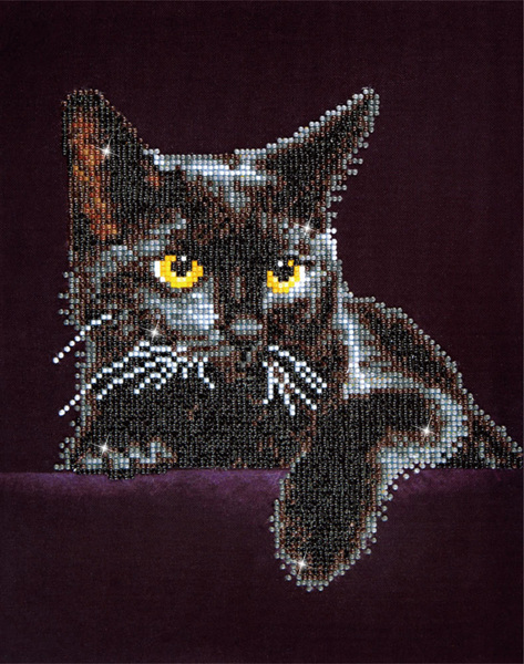 Diamond Dotz® - Midnight Cat 279x355 mm