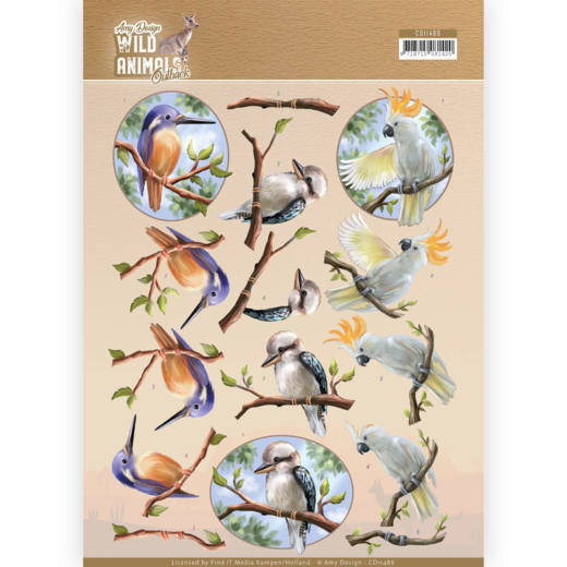 CD: Amy Design; Wild Animals Outback, Knipvel - Parrot