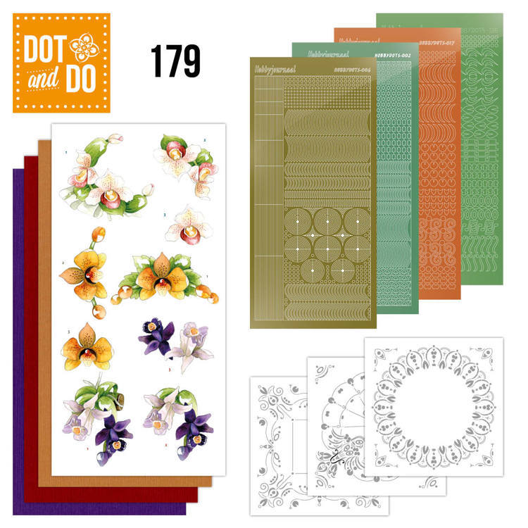 Dot and Do 179: Precious Marieke - Delicate Flowers - Orchid