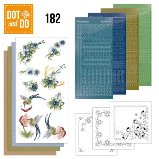 Dot and Do 182: Marieke - Blue Flowers