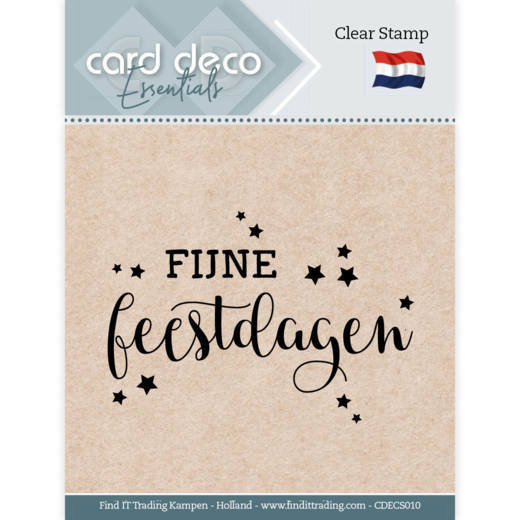 Card Deco Essentials: Clear stamps - Fijne Feestdagen
