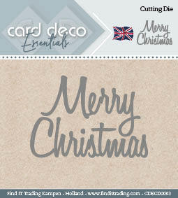 Card Deco Essentials: Cutting Die - Merry Christmas
