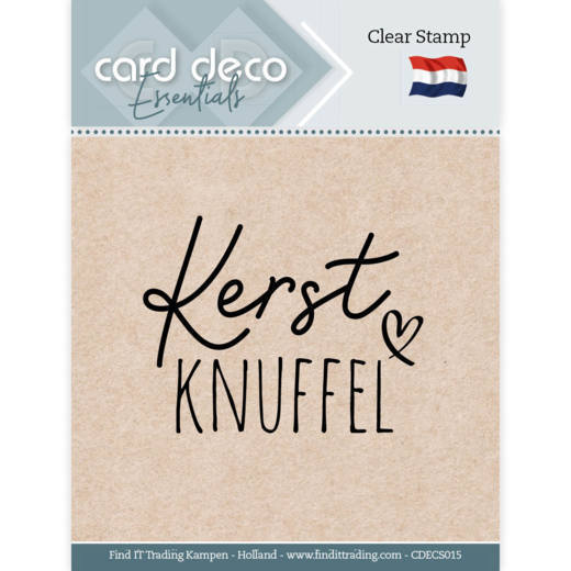 Card Deco Essentials: Clear stamps - Kerst Knuffel