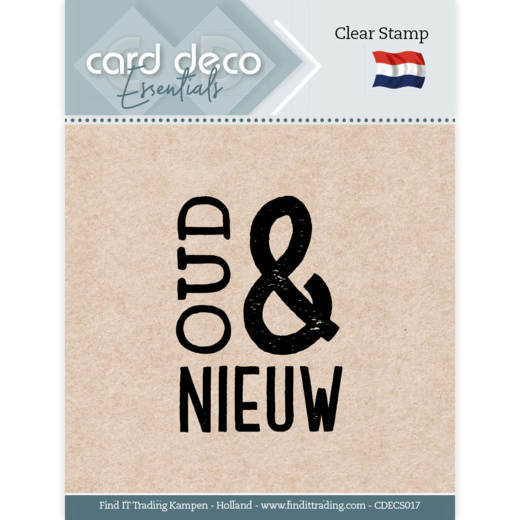 Card Deco Essentials: Clear stamps - Oud & Nieuw