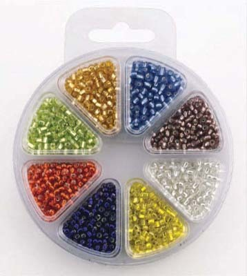 HC: Glass bead kit 8 colors - SILVERLINED