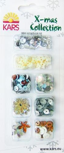 Kars: Mini scrapbook kit Buttons/embellishments 2- X-mas