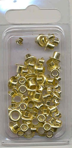 Rayher: Eyelets 25 x 8 mm + 50 x 4 mm; Gold