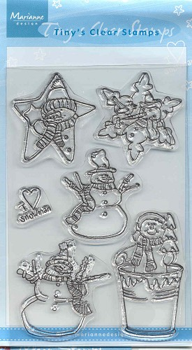 MD: Tiny`s Clear Stamps; Snowman